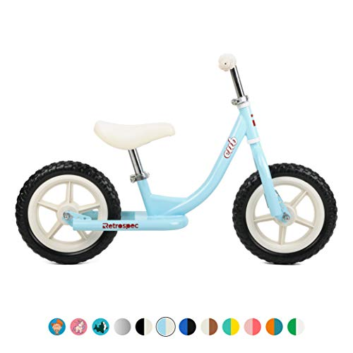 Retrospec 3032  Cub Kids Balance Bike No Pedal Bicycle, Powder Blue,, O/S