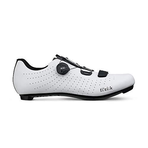 Fizik Tempo R5 Overcurve Cycling Shoe, White/Black- 40, White/Black