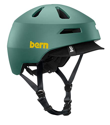 Bern - Brentwood 2.0 Helmet, Matte Slate Green w/Visor, Large
