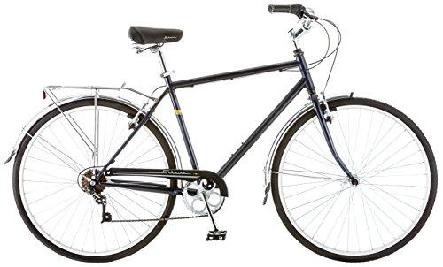 Schwinn Wayfarer Bike Mens and Womens Hybrid Retro-Styled Cruiser, 7-Speed, 28-inch Wheels, Medium Frame, Blue