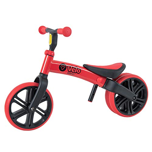 Yvolution Y Velo Junior Toddler Bike   No-Pedal Balance Bike   Ages 18 Months to 4 Years (Red Refresh)