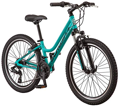 Schwinn High Timber Mountain Bike, Aluminum Frame, 24-Inch Wheels, Teal