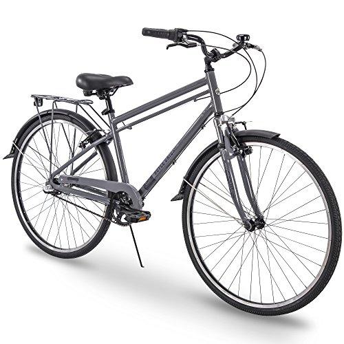 700c Royce Union RMX Mens 3-Speed Commuter Bike, 17' Aluminum Frame, Cool Gray